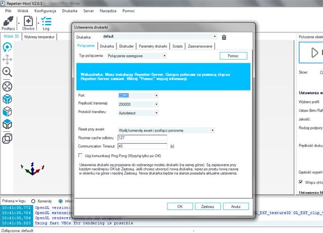 Repetier-Host - oprogramowanie do obsługi druku 3D