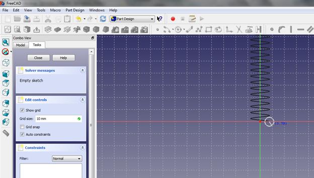 FreeCAD - jak zaprojektować sprężynę - Helix we FreeCAD