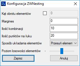 ZW Nesting 2019 opcje