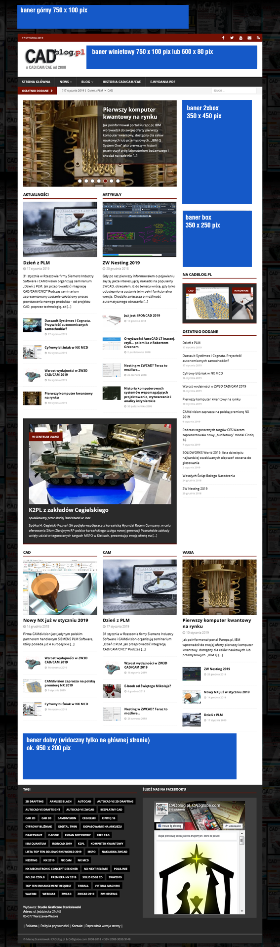 moduły reklamowe CADblog.pl 2019