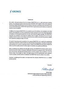 List referencyjny KRONES
