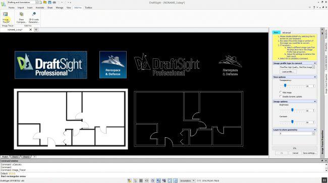 DraftSight2019_ImageTracer
