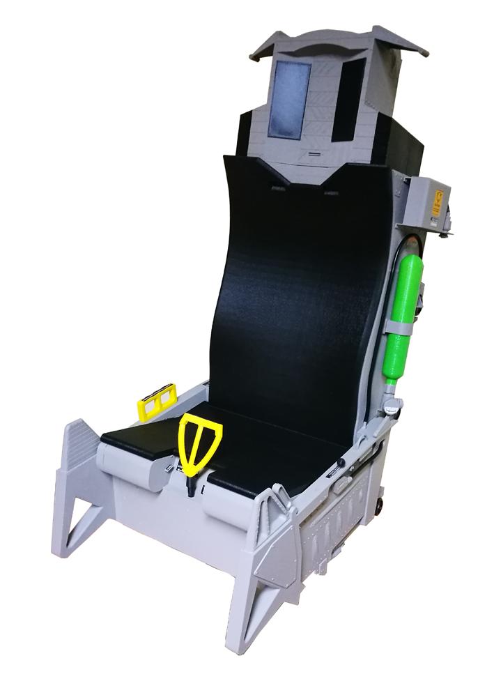 Model fotela pilota 3D