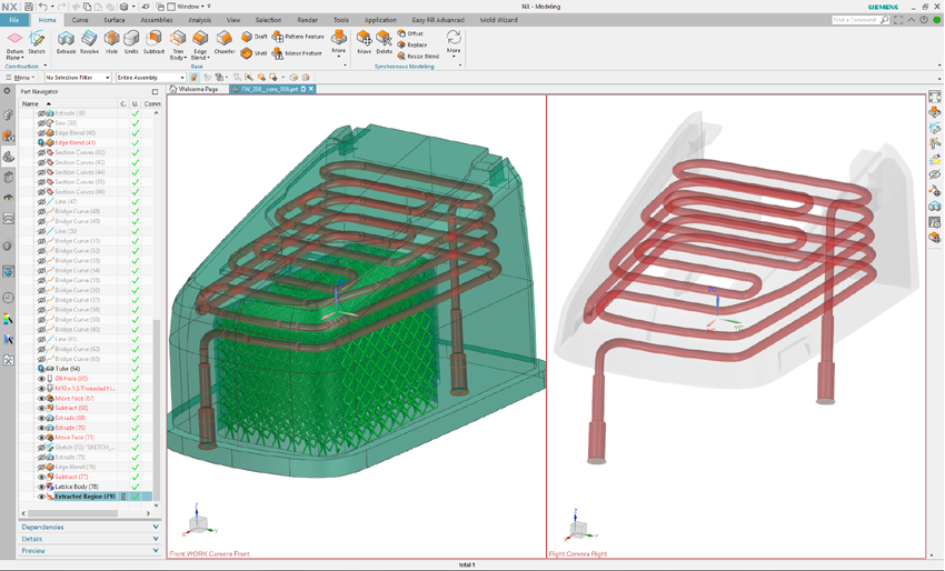 NX Mold Conformal Cooling